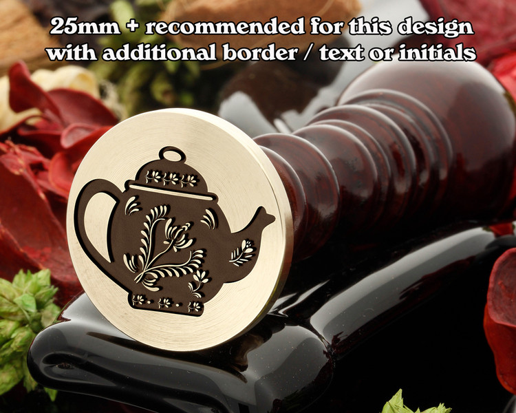 Teapot wax seal stamp as shown