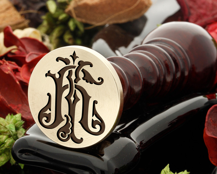 Victorian Monogram HJ JD Wax Seal D1