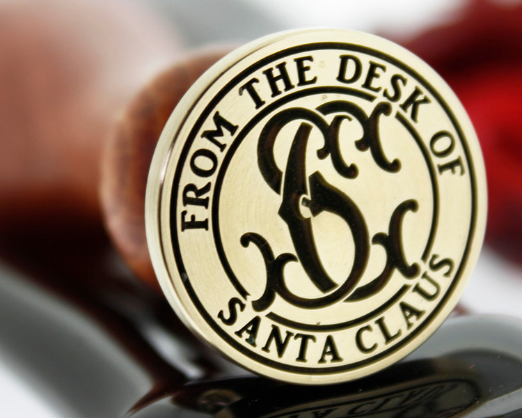 From the Desk of Santa Clause SC Victorian Monogram Design wax seal