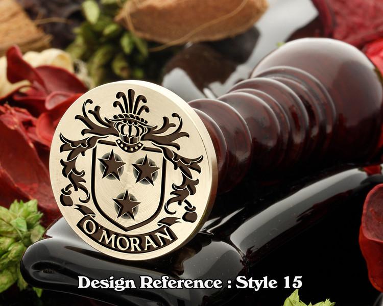 O'MORAN family crest wax seal D15