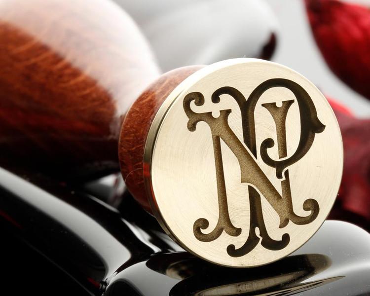 NP PN Victorian Monogram Wax Seal Design 1