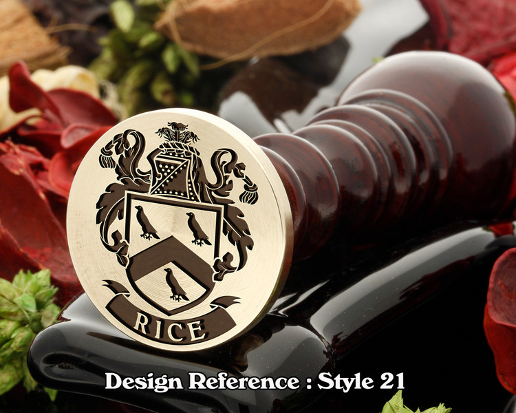 Rice Family Crest Wax Seal D21