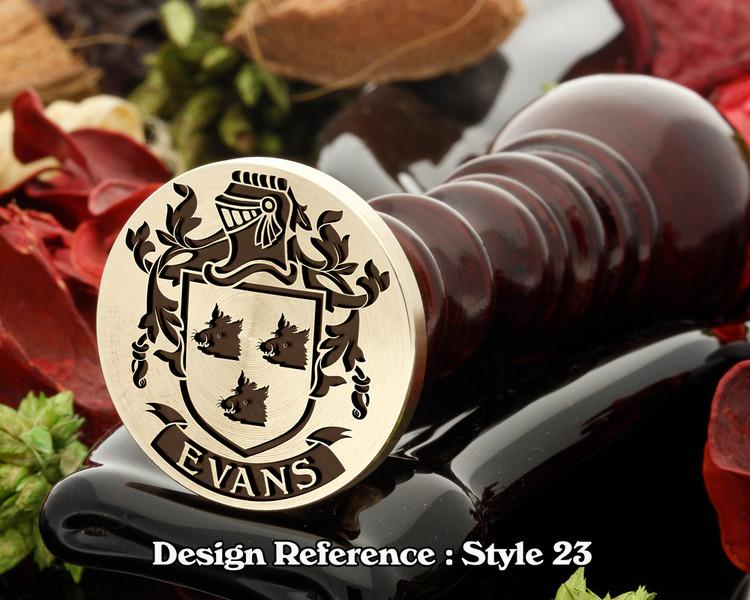 Evans Family Crest Wax Seal D23