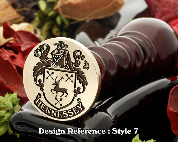 Hennessey Family Crest Wax Seal D7