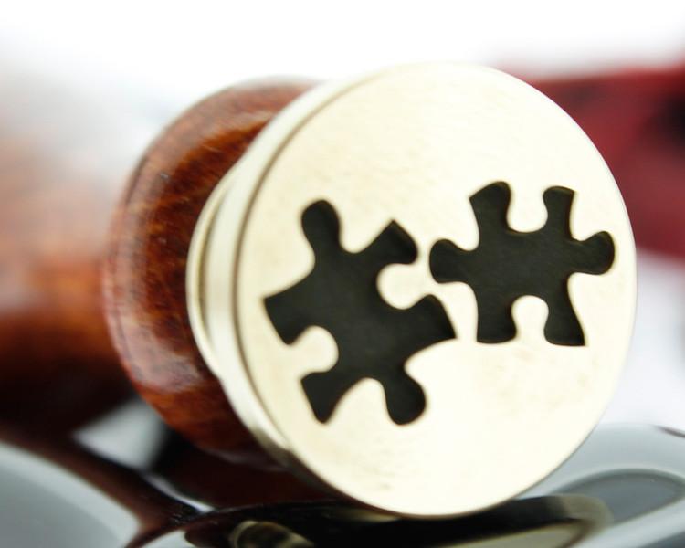 Engraved wax stamp, photo reversed