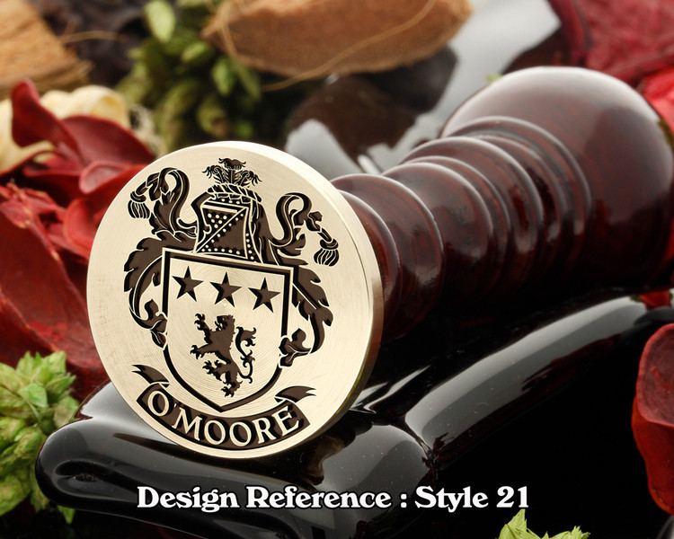O'Moore Family Crest Wax Seal D21