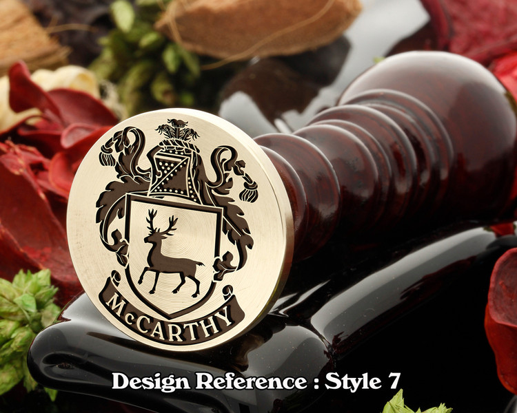 McCarthy Family Crest Wax Seal D7
