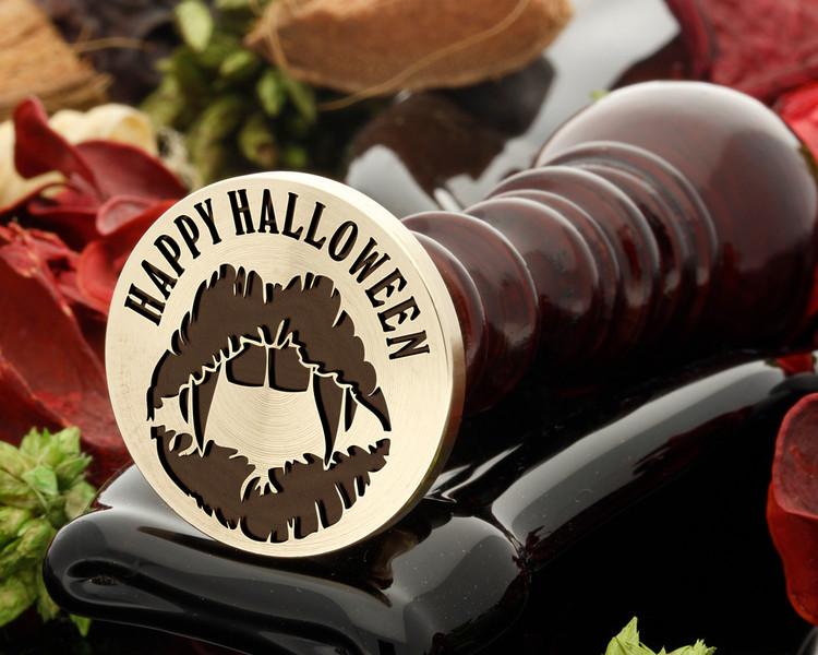 Happy Halloween Vampire Lips Wax Seal