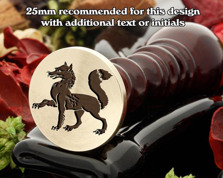 Heraldry Fox Passant Wax Seal Stamp