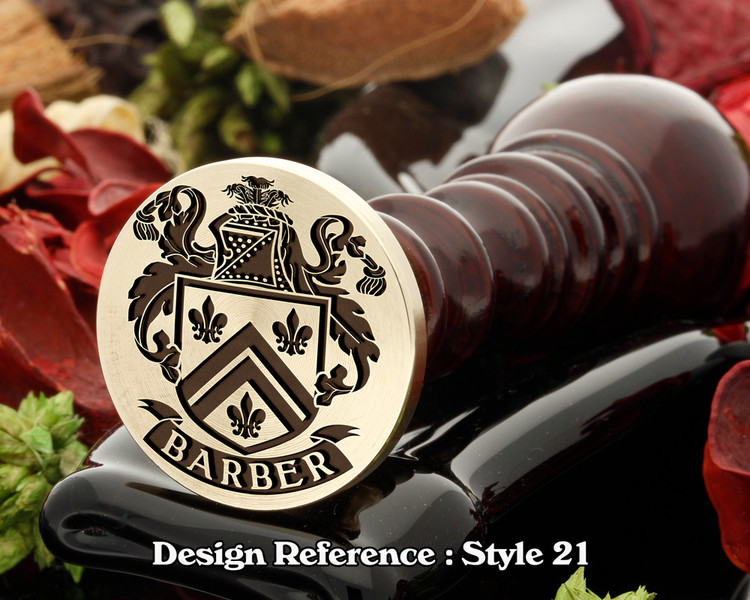Barber Family Crest Wax Seal D21