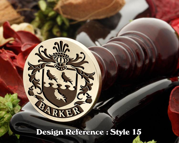 Barker Family Crest Wax Seal D15
