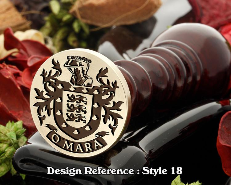 O'Mara Family Crest Wax Seal D18