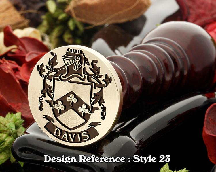Davis  Family Crest Wax Seal D23
