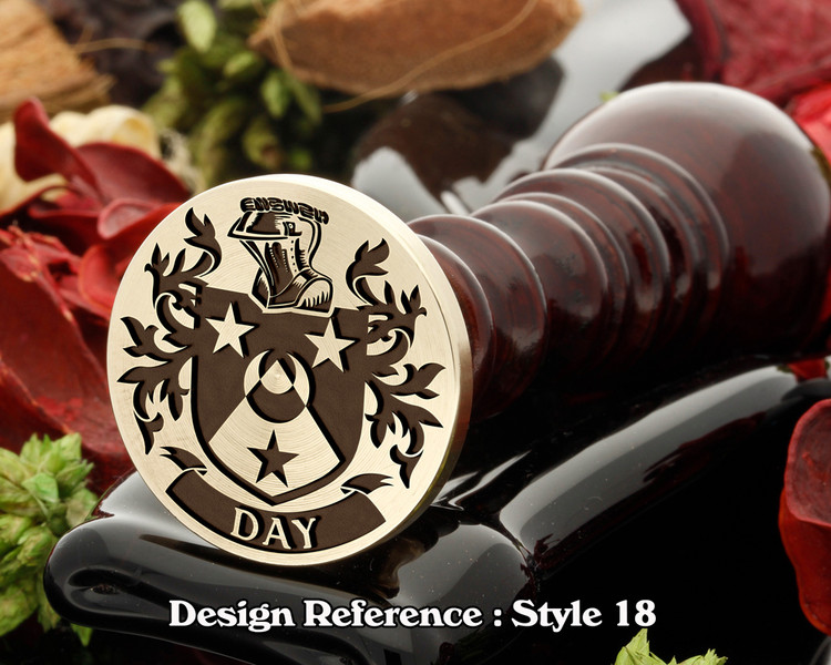 Day Family Crest Wax Seal D18