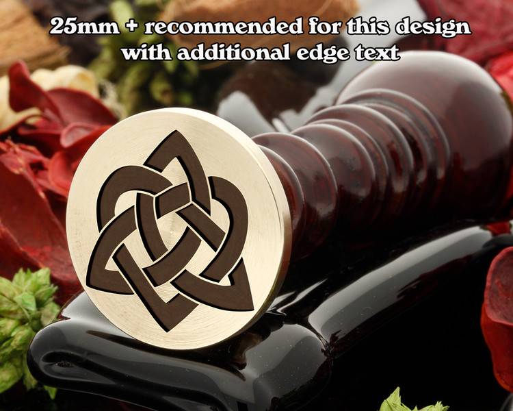 Celtic D26 Trinity Heart Wax Seal Stamp