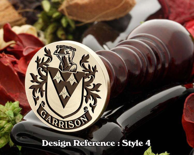 Garrison Family Crest Wax Seal D4