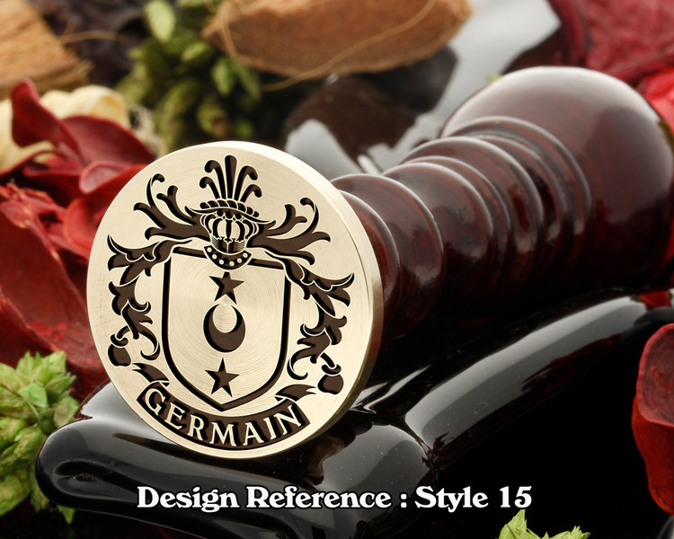 Germain Family Crest Wax Seal D15