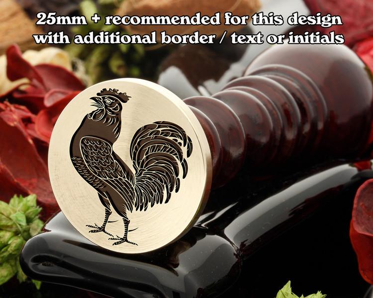 Cock (Close) Wax Seal Stamp
