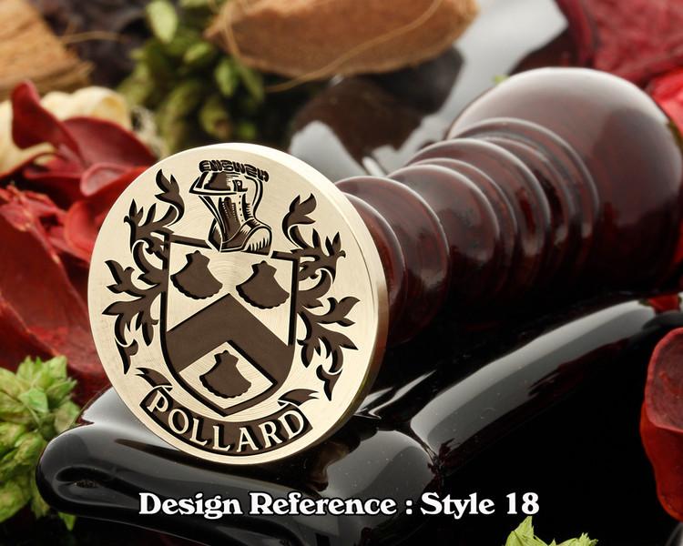 Pollard Family Crest Wax Seal D18
