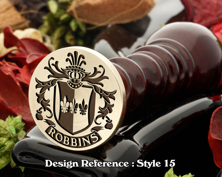 Robbins Family Crest Wax Seal D15
