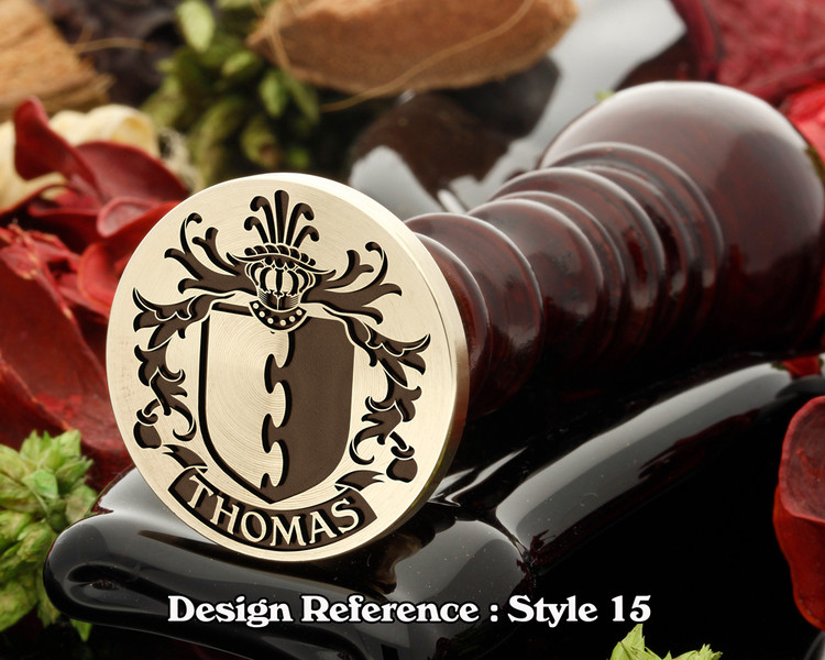 Thomas Family Crest Wax Seal D15