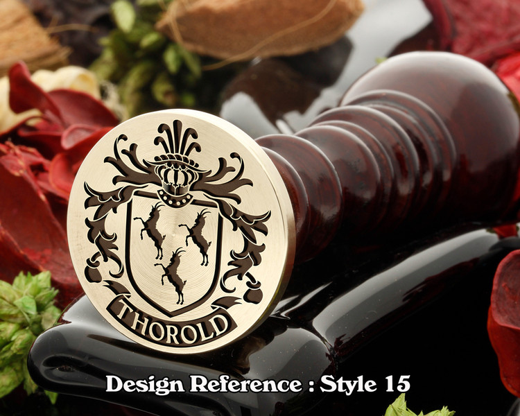 Thorold Family Crest Wax Seal D15