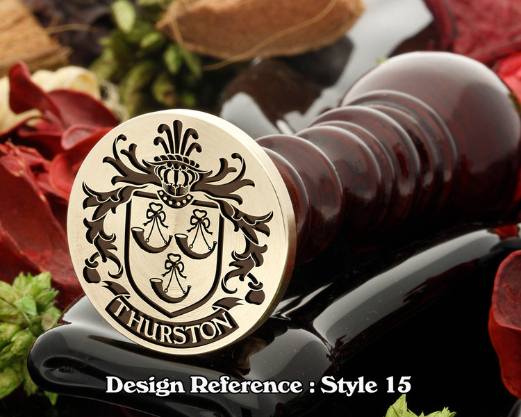 Thurston Family Crest Wax Seal D15