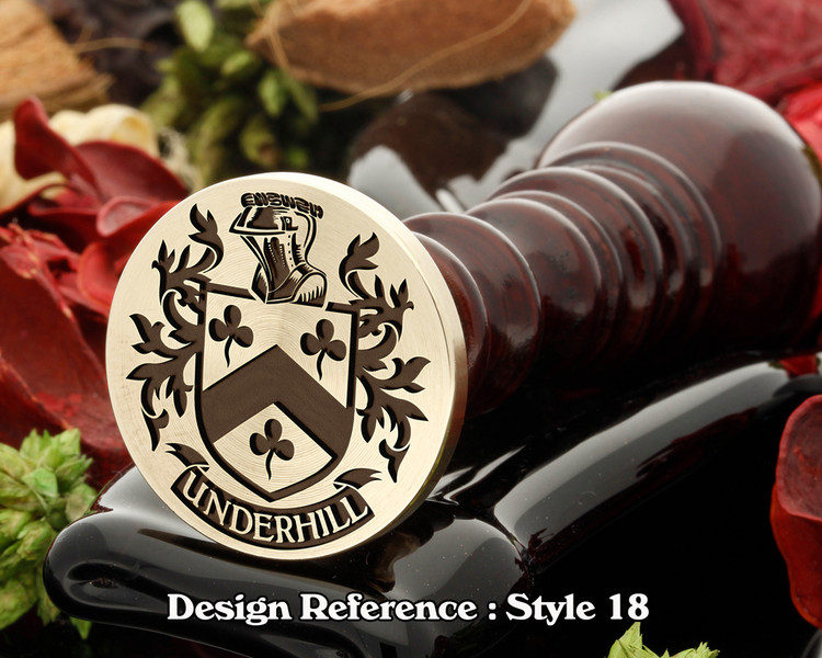 Underhill Family Crest Wax Seal D18