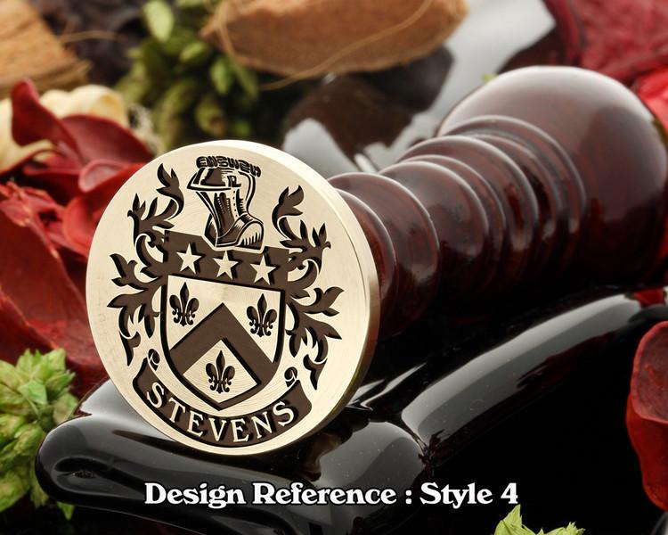 Stevens Family Crest Wax Seal D4