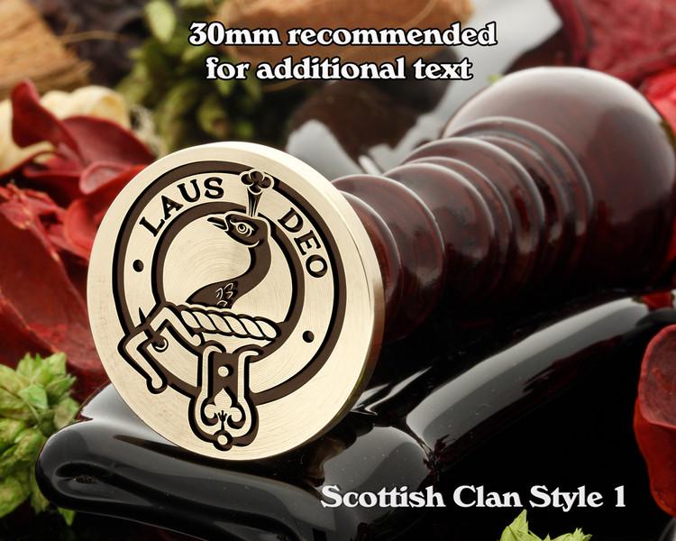 Arbuthnott Scottish Clan Wax Seal D1