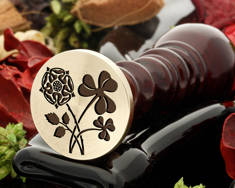 Rose and Shamrock Wax Seal Stamp