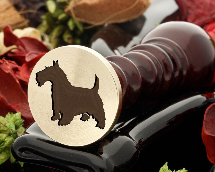 Scottie dog wax seal