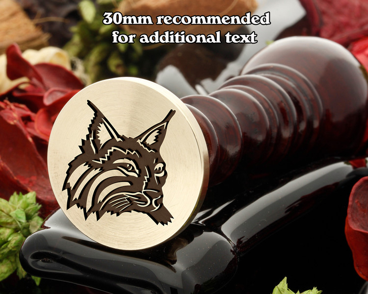 Lynx Wax Seal Stamp laser engraved
