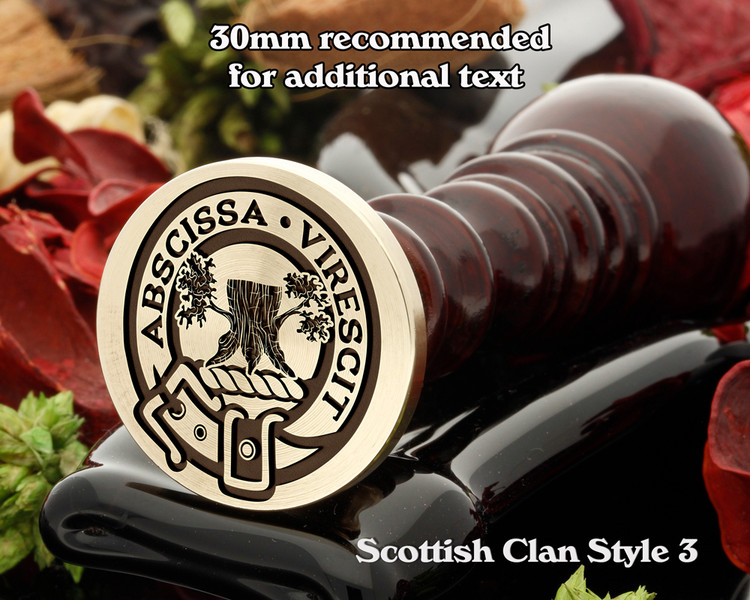 Bisset Scottish Clan Wax Seal D3