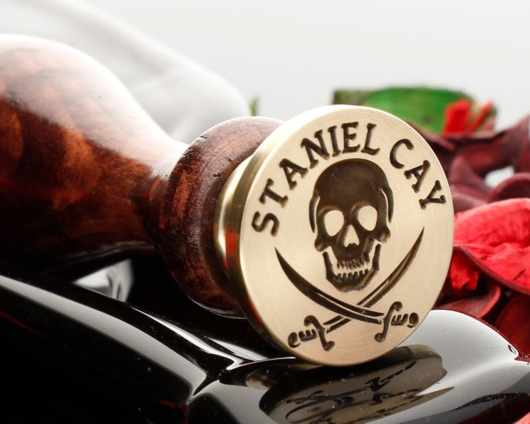 Skull and Sword Wax Seal Stamp