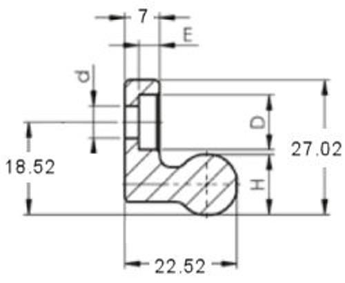 FRX43G Rail End Dimensions