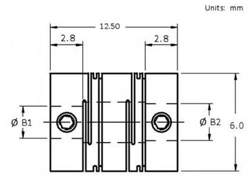 RCLA6 Dimensional Drawing