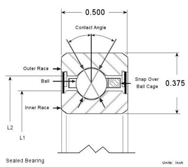 Sealed Bearing Cross Section