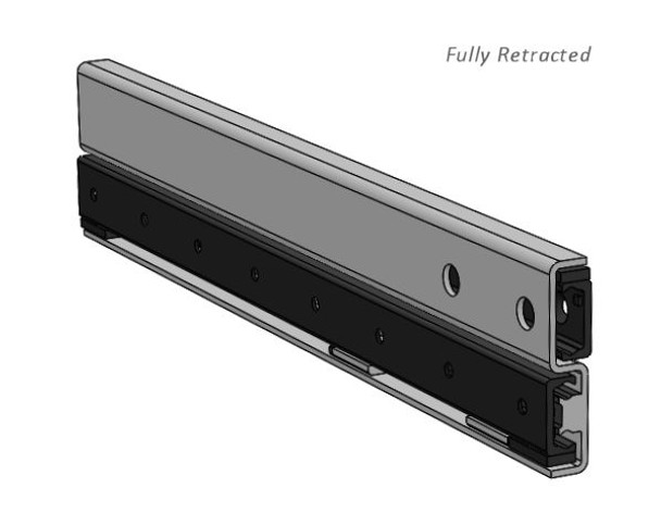 TLS43 Telescopic Linear Guide Fully Retracted