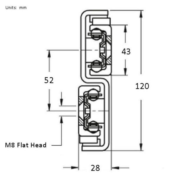 TLS43 Cross Sectional Dimensions