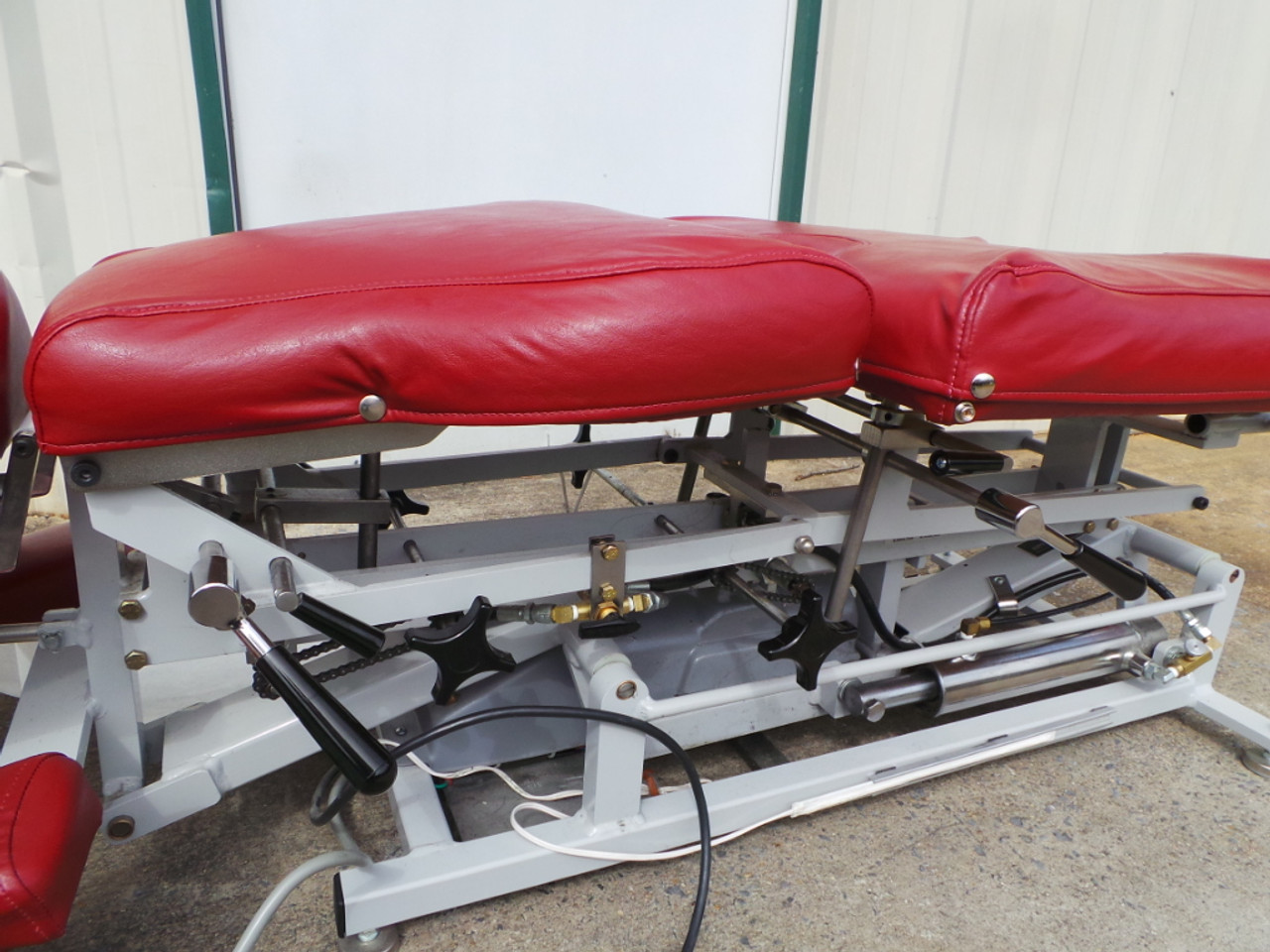 Used Lloyd 402  Elevation Table includes Manual CD -3 Auto drops NEW Black Upholstery