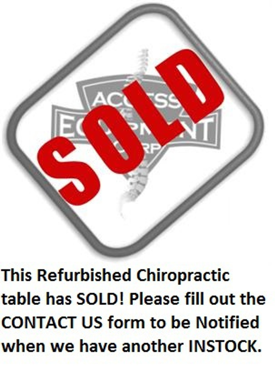Used 2011 Hill Air-Drop HA90C Chiropractic Table
