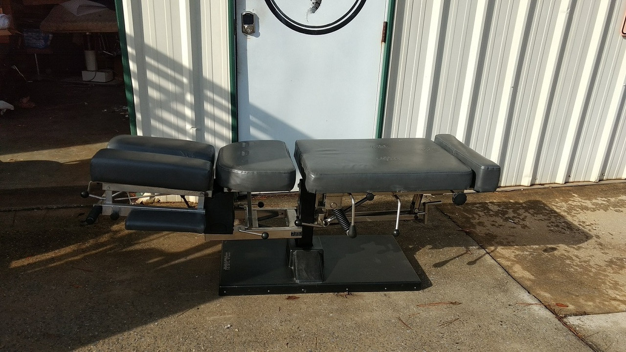 Used Titan Stationary Manual Flexion Table With Pelvic & Cervical  Drop