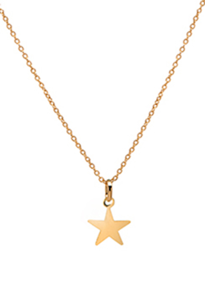 14k gold star necklace zoelev 14k gold star necklace mozeypictures Gallery