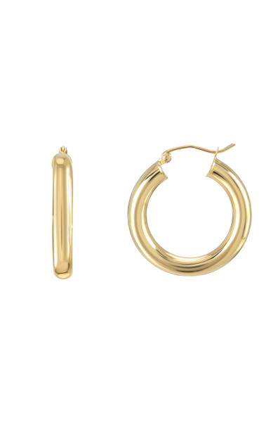 14k gold tiny  thick hoops