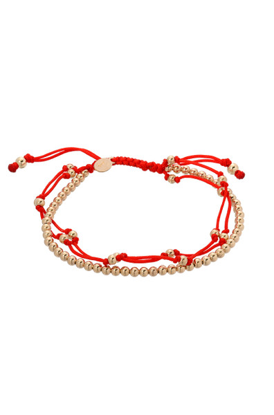Red trio fortune bracelet