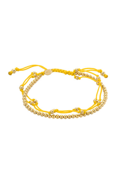 Yellow trio fortune bracelet