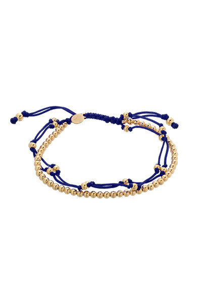 Navy Blue trio fortune bracelet