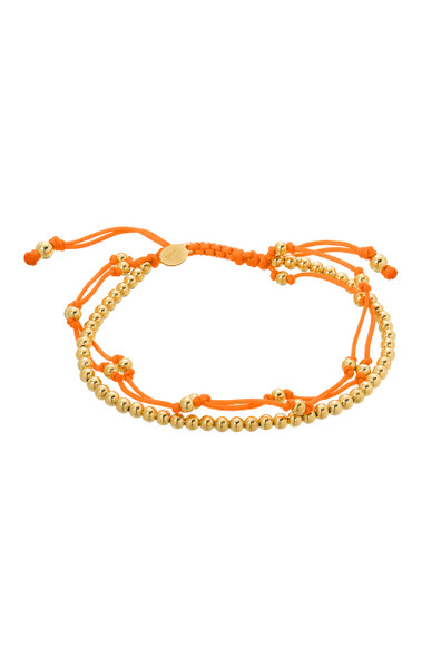 Orange trio fortune bracelet
