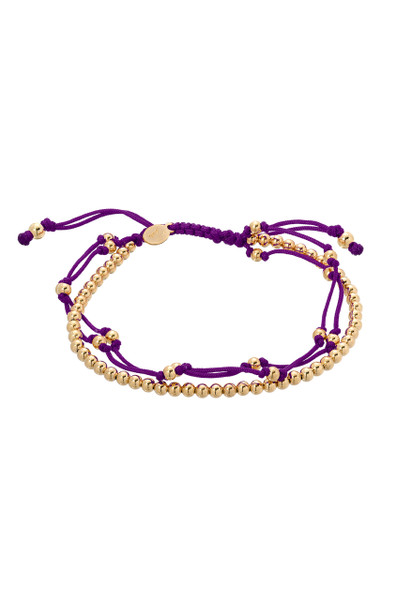 Purple trio fortune bracelet